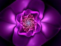 Forma abstracta del fractal de la flor Fotos de archivo libres de regalías
