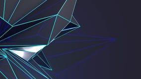Forma abstracta geométrica de desplazamiento almacen de video