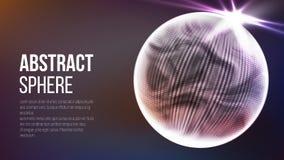 Forma abstrata da esfera Fundo poligonal abstrato do espaço Fundo abstrato da tecnologia conceito do planeta 3d Vetor Fotos de Stock
