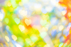 Forma abstrata do coração do bokeh para o dia do ` s do Valentim Fotos de Stock Royalty Free
