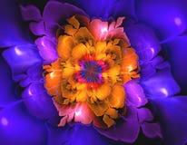 Forma abstrata do fractal da flor imagens de stock