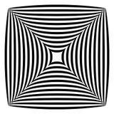 Forma abstrata geométrica Squarish ilustração stock