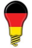 Forma alemão da lâmpada da bandeira da tecla Fotografia de Stock