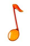 Forma anaranjada de la nota de la música Imagen de archivo