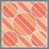 Forma anaranjada y línea blanca fondo de la raya del tono Foto de archivo