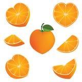 Forma arancio del cuore Fotografia Stock Libera da Diritti