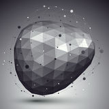 Forma arrotondata tecnologica spaziale, singolo colore poligonale eps8 Fotografie Stock Libere da Diritti