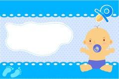 Forma astratta bianca della cartolina d'auguri del neonato per aggiungere il vostro testo Fotografie Stock Libere da Diritti