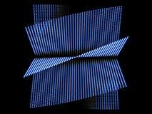 Forma astratta blu e fondo nero Fotografia Stock Libera da Diritti