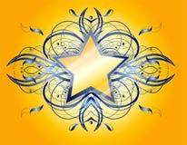 Forma astratta con la stella. Fotografia Stock Libera da Diritti