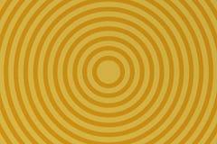 Forma astratta del cerchio su fondo giallo royalty illustrazione gratis