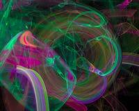 Forma astratta di caos di concetto di frattale, modello, discoteca, partito illustrazione di stock
