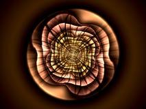 Forma astratta di frattale del fiore Immagine Stock