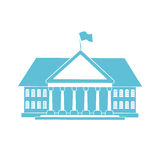 Forma azul da casa ilustração stock