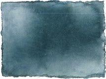Forma azul del color de la acuarela Textura del papel del añil Fondo abstracto con el cepillo mojado del chapoteo libre illustration