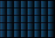 Forma azul en fondo abstracto negro Foto de archivo libre de regalías