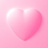 Forma bianca del cuore su fondo bianco Immagini Stock Libere da Diritti