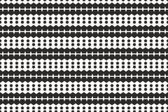 Forma in bianco e nero monocromatica di ripetizione del modello di pentagoni Immagini Stock