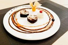 Forma bonita do coração do Valentim da composição do projeto do alimento Imagens de Stock Royalty Free