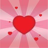 Forma brilhante dos corações Fotos de Stock