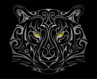 Forma capa del tatuaggio della tigre illustrazione vettoriale