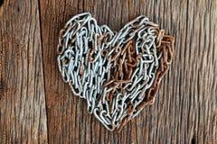 Forma Chain do coração Imagem de Stock Royalty Free