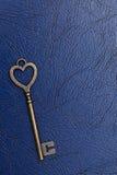 Forma chiave d'annata del cuore Immagini Stock