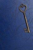 Forma chiave d'annata del cuore Fotografie Stock Libere da Diritti