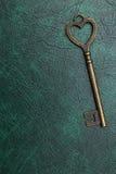 Forma chiave d'annata del cuore Fotografie Stock