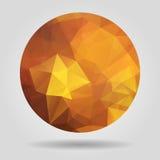 Forma circolare arancio geometrica astratta dai fronti triangolari f Immagini Stock
