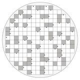 Forma circolare delle parole incrociate delle frecce rotonde del modello vuota Immagine Stock
