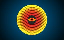 Forma coloreada esférica anaranjada abstracta, aislada en blanco Fotos de archivo libres de regalías