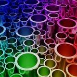 Forma colorida abstracta del tubo Foto de archivo