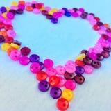Forma colorida bonita do coração foto de stock royalty free