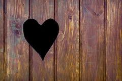 Forma cortada del corazón Imagenes de archivo