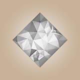 Forma cuadrada del diamante Fotos de archivo