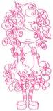 Forma-curly-menina ilustração do vetor
