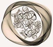 Forma Curvy colorida artística do sumário em um fundo branco ilustração royalty free