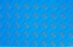 Forma d'acciaio del rombo del nuovo di struttura del fondo del metallo piatto blu del ferro Fotografia Stock Libera da Diritti