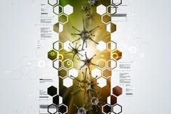 forma 3d de virus ilustración del vector