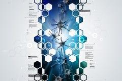 forma 3d de virus stock de ilustración