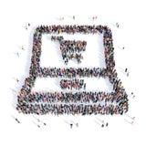 Forma 3d del computer della gente Fotografia Stock