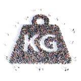 Forma 3d del kilogramo del peso de la gente Foto de archivo