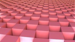 forma 3D geométrica dos cubos vermelhos Imagem de Stock Royalty Free