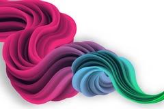 forma 3d líquida colorido com efeito dinâmico Gradi abstratos Fotografia de Stock