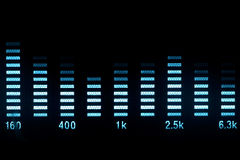 Forma d'onda di musica Fotografia Stock