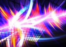 Forma d'onda Funky del Rainbow Immagine Stock
