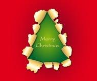 Forma da árvore de Natal Fotografia de Stock Royalty Free