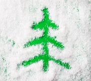Forma da árvore de Natal Imagens de Stock