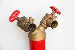 Forma da boca de incêndio de fogo Y no fundo branco Fotografia de Stock Royalty Free